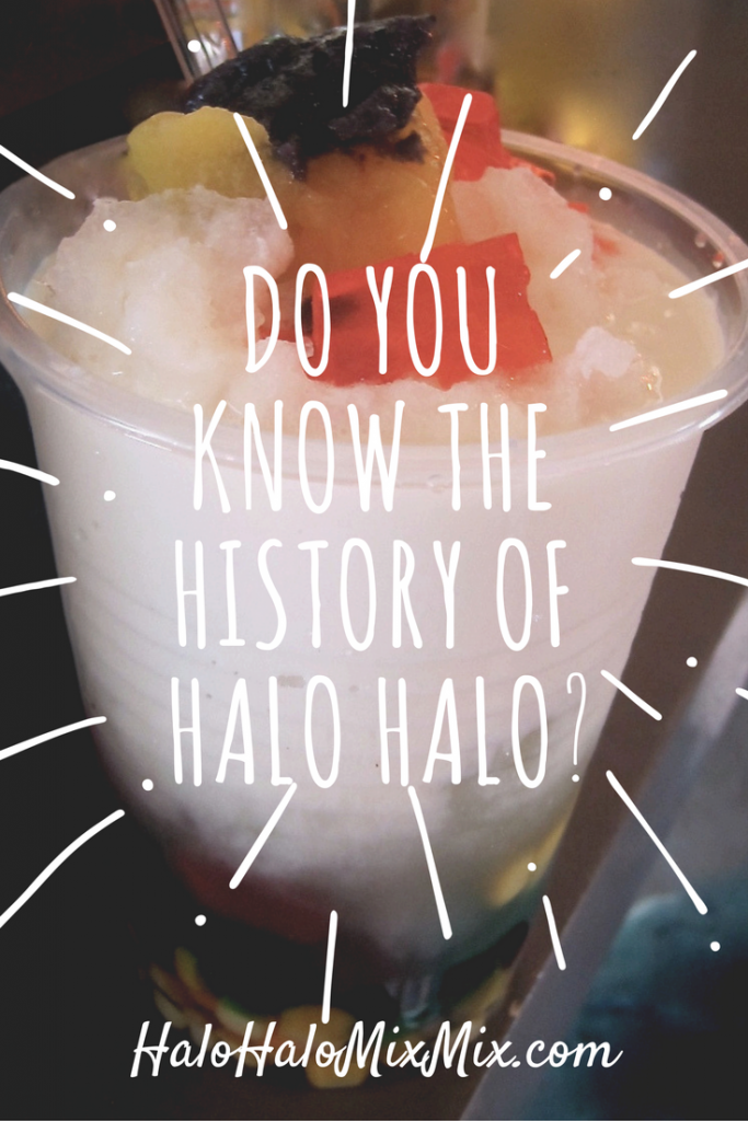 Do You Know the History of halo halo