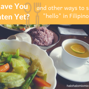 ways to say hello in Filipino