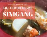 Fall Filipino cuisine - sinigang soup