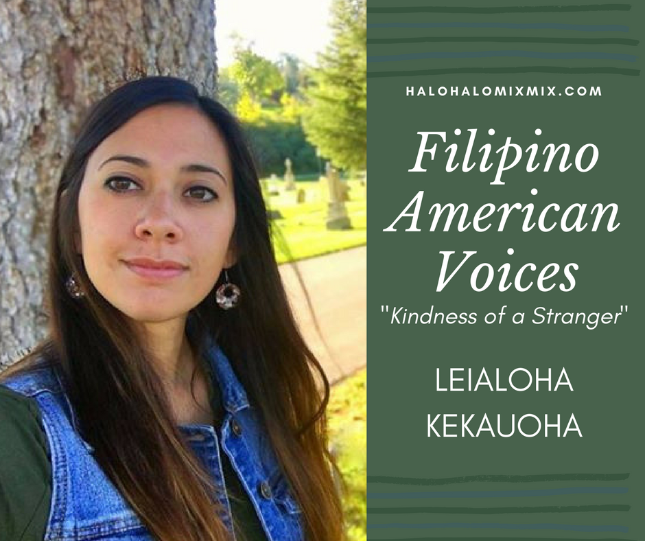 filipino american voices kindness of a stranger halo halo mix mix