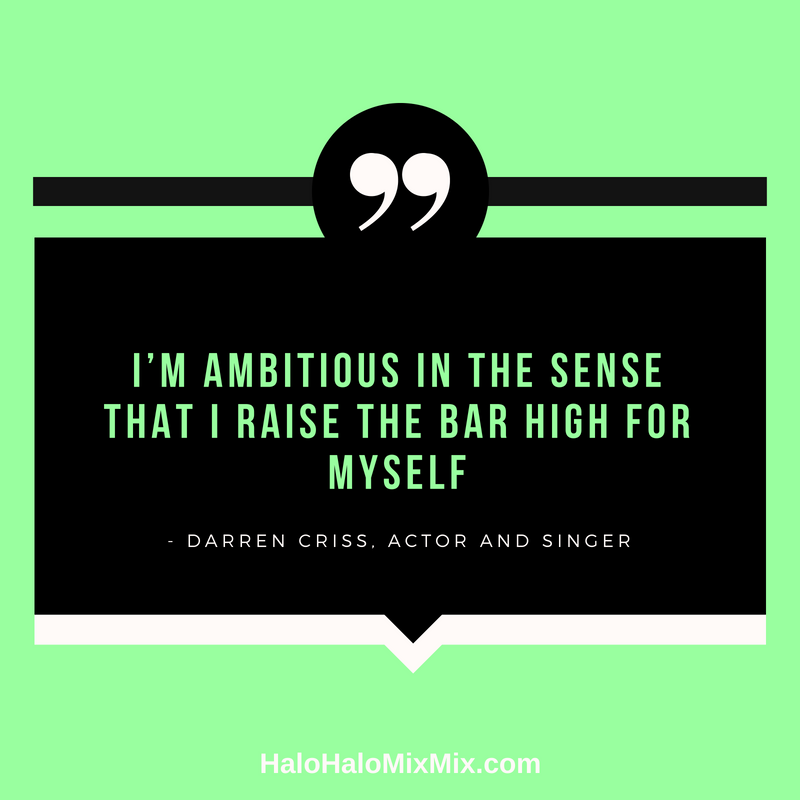 Quotes from Famous Filipino Americans - Darren Criss