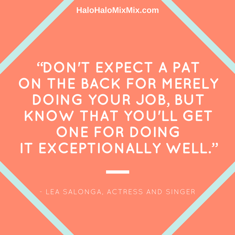 Quotes from Famous Filipino Americans - Lea Salonga