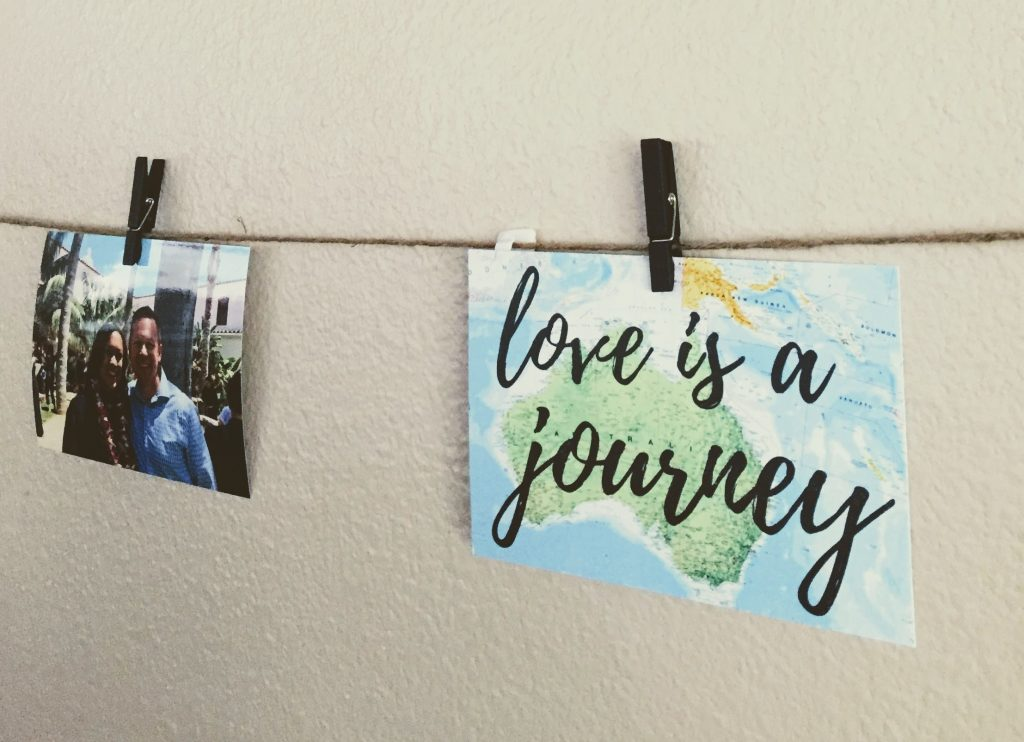 budget wedding decor - love is a journey