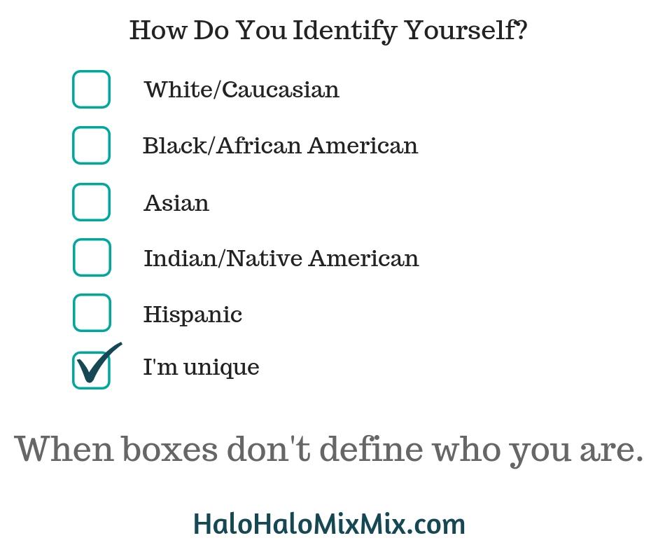 When boxes don't define you. Filipino American Identity
